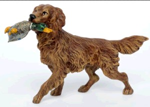 Big hunting dog with Duck -Hunting And Horses