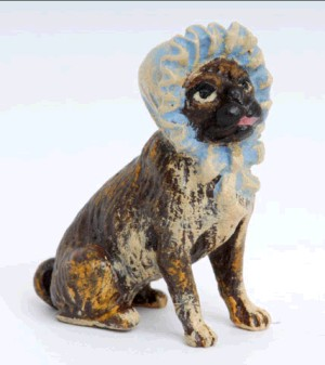 Pug with Hat -Dogs---- VIENNA BRONZE ---