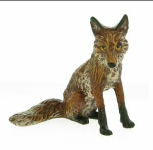 Fox sitting small -Hunting And Horses---- VIENNA BRONZE ---