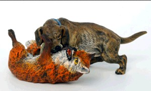 Hunting dog with Fox -Hunting And Horses