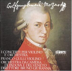 W.A. Mozart - Concerti per Violino - Franco Gulli, violino - Orchestra da Camera di Padova - Bruno Giuranna-Violin