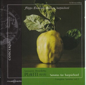 Giovanni Platti - Complete Sonatas: Vol. 3, F. E. Ravizza, harpsichord-Historical Instruments
