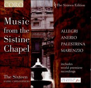 Music From the Sistine Chapel - Allegri, Anerio, Palestrina, Marenzio-Choir-Sacred Music