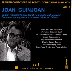 Spanish Composers of Today Vol. 3 - Joan Guinjoan -Today's Spanish Composers
