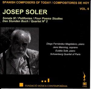 Spanish Composers of Today Vol.  6 - Josep Soler - Sonata IX , Polifonías-Vocal and Piano