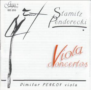 STAMITZ PENDERECKI - Viola Concertos - Dimitar Penkov, viola-Viola