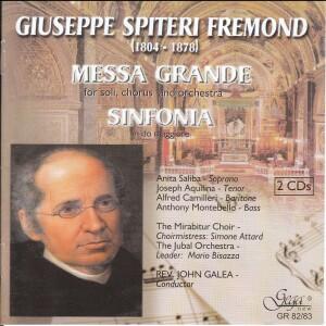 G.S. Fremond - Messa Grande per soli, coro e orchestra - Sinfonia in do maggiore-Choir-Choral Collection