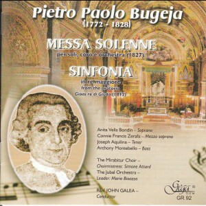 PIETRO PAOLO BUGEJA - MESSA SOLENNE - SINFONIA-Choir-Sacred Music