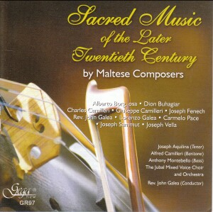 Sacred Music of the Later 20th Century - Maltese Composers-Choir-Sacred Music