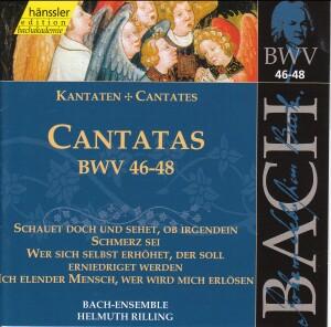 J. S. Bach - V 16: Cantatas (BWV 46/47/48)-Sacred Music