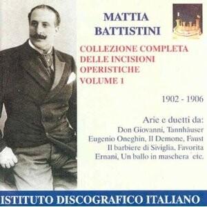 Mattia Battistini and Various - Die Opernaufnahmen 1902-1906 -Voices and Orchestra-Opera & Vocal Collection