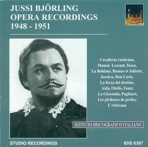 Jussi Björling Opera Recordings, 1948-1951: Works by Mascagni, Puccini, Bizet, etc.-Voices and Orchestra-Vocal and Opera Collection