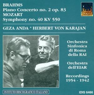Brahms - Piano Concerto No.2 Op.83; Mozart: Symphony No.40, K.550 - Géza Anda-Piano-Historical Recordings