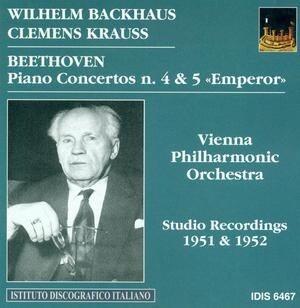 Beethoven - Piano Concertos Nos.4 and 5 - Wilhelm Backhaus-Piano