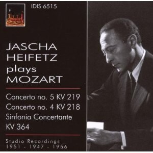 Jascha Heifetz (violin) plays Mozart-Violin-Great Performers