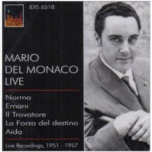 Mario Del Monaco Live Recordings, 1951-1956-Voices and Orchestra-Vocal and Opera Collection