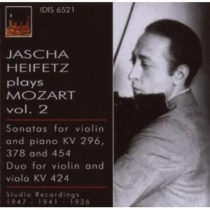 Jascha Heifetz (violin) Plays Mozart, Vol. 2-Violin