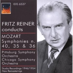 Mozart - Symphonies Nos.35, 36 and 40 - Fritz Reiner, conductor -Orchestra-Orchestral Works