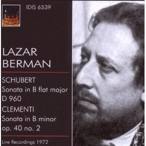 L. Berman (piano) Plays Schubert, Clementi -Piano-Great Performers