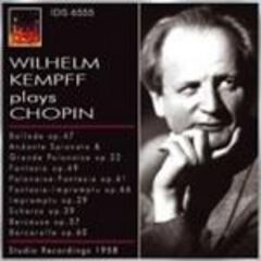 Wilhelm Kempff plays Chopin-Piano-Great Performers