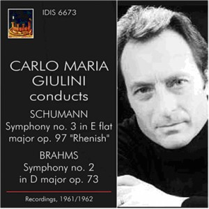 CARLO MARIA GIULINI, Conducts - ROBERT SCHUMANN - JOHANNES BRAHMS-Orchestra-Symphony