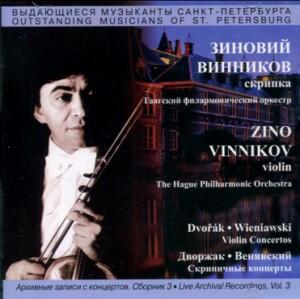 Live Archival Recordings, Vol. 3 - Zino Vinnikov, violin - DVORAK - WIENIAWSKI - Violoin Concertos-Violin and Orchestra-Violin Concerto