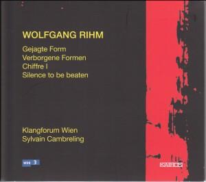 Wolfgang Rihm - Gejagte Form-Chamber Ensemble-Chamber Music
