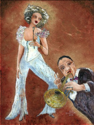 Jazz-VII - 24 x 18 cm - Kata Musatova---- PAINTINGS ---