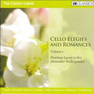 Cello Elegies and Romances, Vol.1 - Penelope Lynex, cello - Alexander Wells, piano -Piano and Cello-Instrumental
