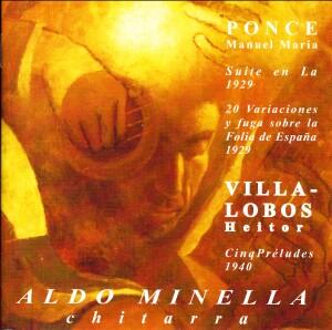 Aldo Minella, guitar - Ponce - Villa-Lobos-Romantic Period