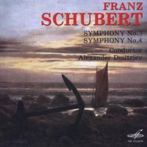 Franz  Schubert - Symphonies Nos. 3 & 4 - Leningrad Philharmonic Symphony Orchestra -A. Dmitriev-Orchestra-Symphony