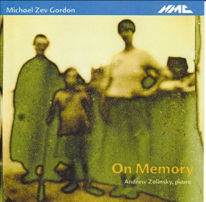 Michael Zev Gordon - On Memory - Andrew Zolinsky (piano)-Piano-Instrumental