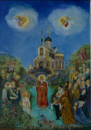 Sv.Vladimir's Apparition in Marienbad - N. Musatova - Picture - 24 x 18 cm ---- PAINTINGS ---