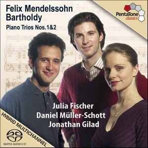 F. Mendelssohn-Bartholdy - Piano Trios Nos 1, 2: J. Fischer, D.Müller-Schott, J.Gilad -Violin