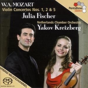 W.A.Mozart: Violin Concertos Nos. 1, 2 & 5. Netherlands Chamber Orchestra - Y.Kreizberg and J.Fischer-Violin