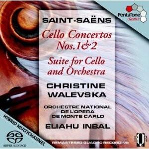 C. Saint-Saëns: Cello Concerto Nos.1, 2, Suite for Cello and Orchestra - Ch. Walevska - cello-Cello and Symphony Orchestra-Cello Collection