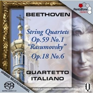 L.van Beethoven - String Quartet  Rasumovsky No.1,String Quartet No. 6  - Quartetto Italiano-String instruments