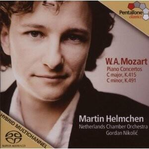 W.A. Mozart - Piano Concertos. C major, K. 415, C minor, k. 491- M. Helmchen, piano -  Netherlands Chamber Orchestra - G. Nikolic-Piano