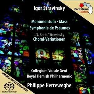 I.Stravinsky - Monumentum, Mass, Symphony of Psalms and I.Stravinsky, J.S. Bach - Choral Variations-Choir