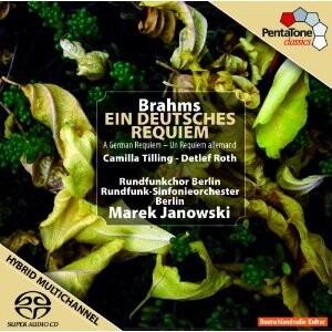 J. Brahms - Ein Deutsches Requiem, Op. 45: Rundfunk-Sinfonieorchester Berlin, Rundfunkchor Berlin -M. Janowski-Choir