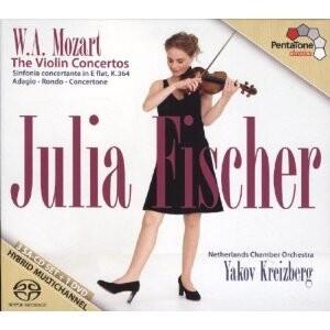 W. A. Mozart: The Violin Concertos: J. Fischer - violin / Netherlands Chamber Orchestra - Y.Kreizberg, conductor-Violin