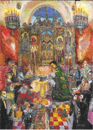 An Orthodox Baptism in Marienbad - N.Musatova - Magnet - 80 x 60 mm-Magnet---- SOUVENIRS ---