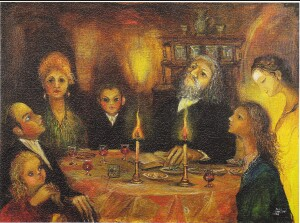 Pesach - N. Musatova - Magnet 60 x 80 mm - Canvas on carton-Magnet---- SOUVENIRS ---