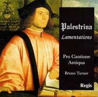 Palestrina - Lamentations of Jeremiah I - III (Book IV - for 5-6 voices) -Pro Cantione Antiqua - B.Turner-Choir