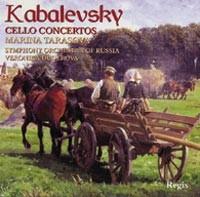 Kabalevsky - Cello Concertos 1, 2 / Improvisato (violin & piano) / Rondo (violin & piano).-Piano