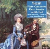 W.A. Mozart- Flute Concertos K313, 314, Flute Sonatas K13, 14,15, Judith Hall-Flute Collection