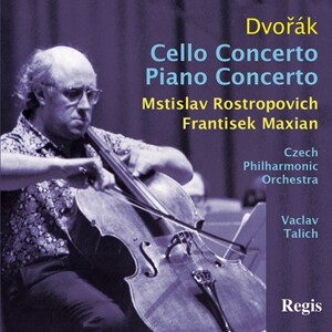 Dvorak - Cello Concerto - Rostropovich, cello - Maxian , piano, Czech PO - Talich-Piano and Cello-Instrumental