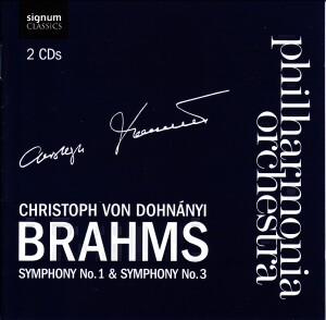 Johannes Brahms - Symphonies No. 1 and No. 3 - Philharmonia Orchestra - Christoph Von Dohnányi, conductor-Orchestra-Orchestral Works
