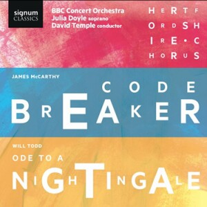 JAMES MCCARTHY - CODEBREAKER - WILL TODD - CHORAL SYMPHONY NO. 4 - ODE TO A NIGHTINGALE-Choir