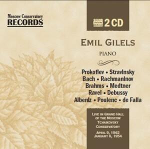 S.S.PROKOFIEV - I.STRAVINSKY - J.S.BACH - S.V.RACHMANINOV - J.BRAHMS - Emil Gilels, piano-Klavír-Význační umělci